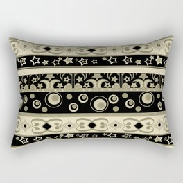 Abstraction. Striped ornament. Rectangular Pillow