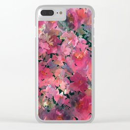 Red Rose Garden Clear iPhone Case