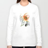 okami Long Sleeve T-shirts featuring Okami Amaterasu by Keshi