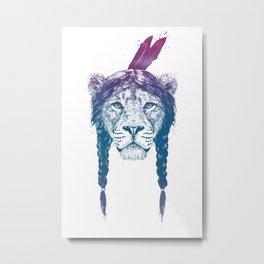 Warrior lion II Metal Print