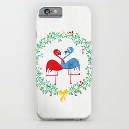 FlamingosTangled in Love iPhone Case