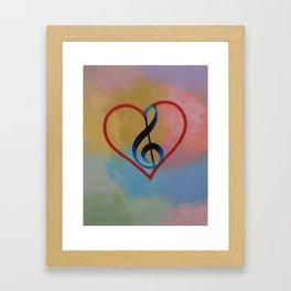 Music Note Framed Art Print