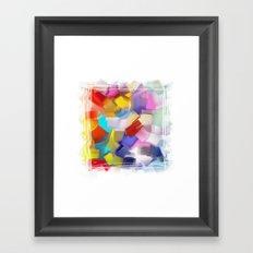 abstract brush Framed Art Print
