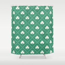 SHAMROCK ON! - emerald Shower Curtain