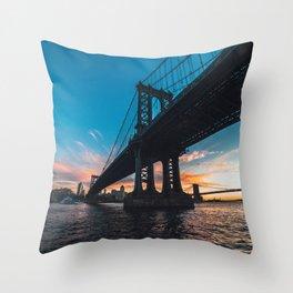 Splendid Manhattan Bridge Throw Pillow