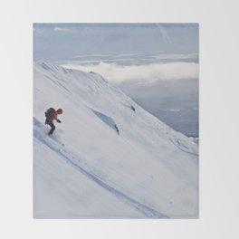 Skiers at Hatcher Pass (2) Throw Blanket