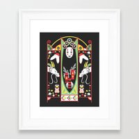 deco Framed Art Prints featuring Spirited Deco by Ashley Hay
