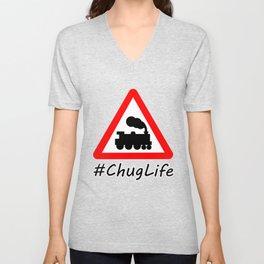 #ChugLife Warning Train Unisex V-Neck