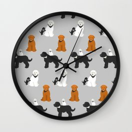 Labradoodle family Wall Clock