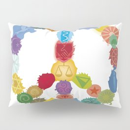 Peace Sign In Colors Pillow Sham
