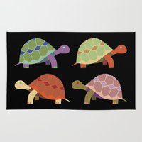 turtles Area & Throw Rugs featuring Turtles by TypicalArtGuy