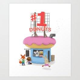 #1 Donuts Snack Shack Art Print