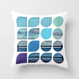 Cold Comfort Collage — Requiem Throw Pillow