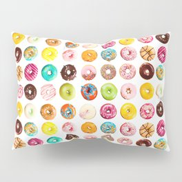 Funny Pattern With Juicy And Tasty Donuts Pillow Sham