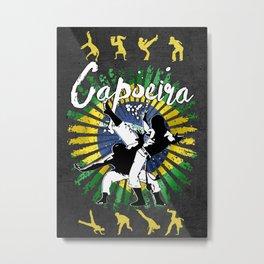 Capoeira dancers Metal Print