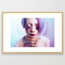 Starry Eyed Girl Framed Art Print