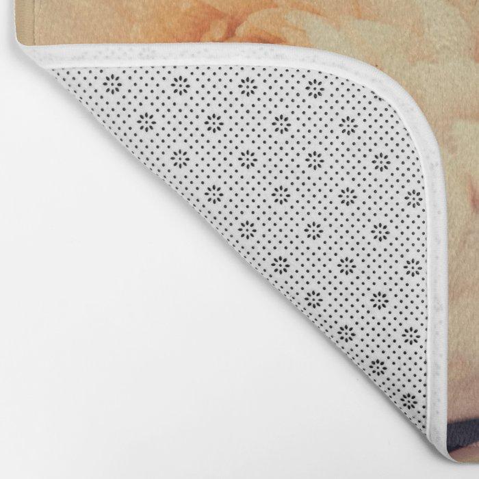 Gorgeous white dahlia Bath Mat
