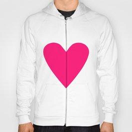 Neon Pink Heart Hoodie