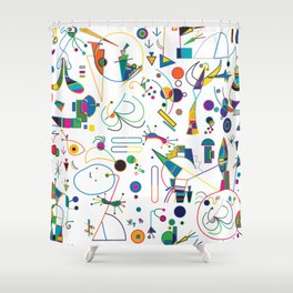 Feminine  Abstract I Shower Curtain