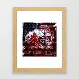 Patriotic American Barn Framed Art Print