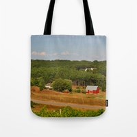 farm Tote Bags featuring Farm by greenelent