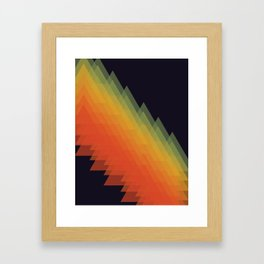 Mountains and rainbows Framed Art Print