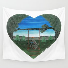 Sunset Sweethearts - Scotties - Scottish Terriers Wall Tapestry
