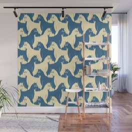 Dog Pattern | Schnauzer | M. C. Escher Inspired Artwork by Tessellation Art Wall Mural