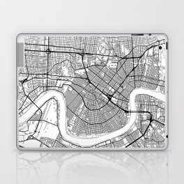 New Orleans Map White Laptop & iPad Skin