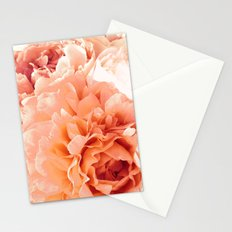 Peach Pink Peony Bunch Stationery Cards