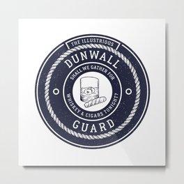 Whiskey & Cigars (Navy) Metal Print