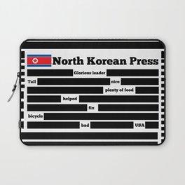 North Korea News Paper Laptop Sleeve