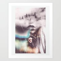 Abstract Portrait V Art Print