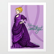 Birthstones: February Art Print