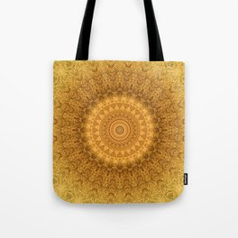 Sunflower Feather Bohemian Sun Ray Pattern \\ Aesthetic Vintage \\ Yellow Orange Color Scheme Tote Bag
