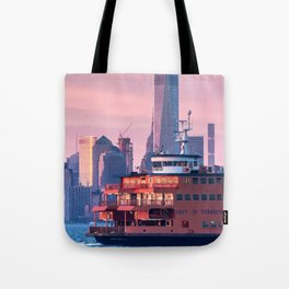NYC Staten Island Ferry Tote Bag