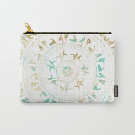 Kama Sutra Mandala Blue and Gold Carry-All Pouch