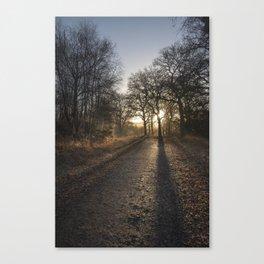 Cycle Path Sunrise Canvas Print