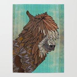 Ornate Llama Poster