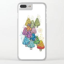 Bosque de pinos magicos Clear iPhone Case