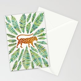 Jaguar – Green Leaves Stationery Cards
