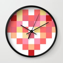 Squares of Love Wall Clock
