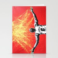 lebron Stationery Cards featuring LeBron Gold by M.J.P. STENCILS