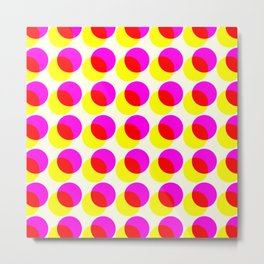dots pop pattern 2 Metal Print
