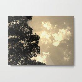 Dusk Luminescent Clouds Metal Print
