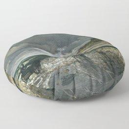 Claude Monet - La Pointe de la Hève at Low Tide Floor Pillow