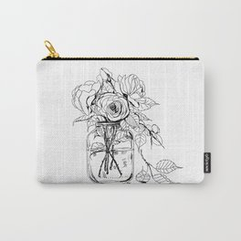 Rose flowers bouquet in a jar Carry-All Pouch