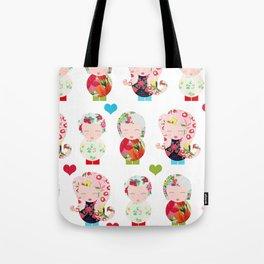 Dolls (White) Tote Bag