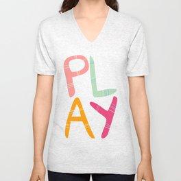 Play Nursery art Unisex V-Neck