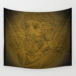 Tattooed Pythagoras Wall Tapestry